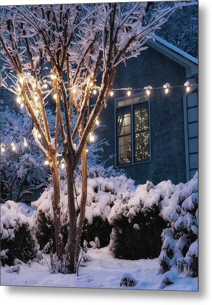 Lights And A Tree Metal Print