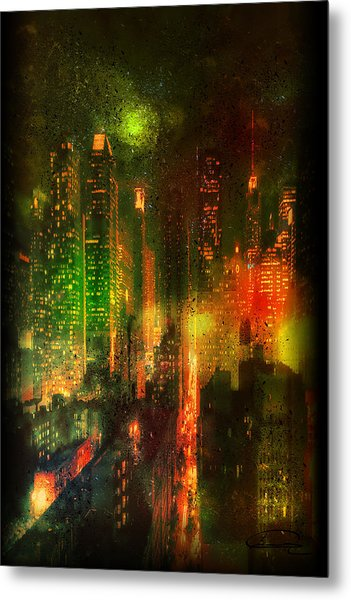 Lights In The City Metal Print by Emma Alvarez