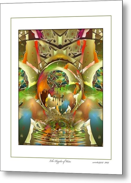 Like Ripples Of Water Metal Print by Gayle Odsather