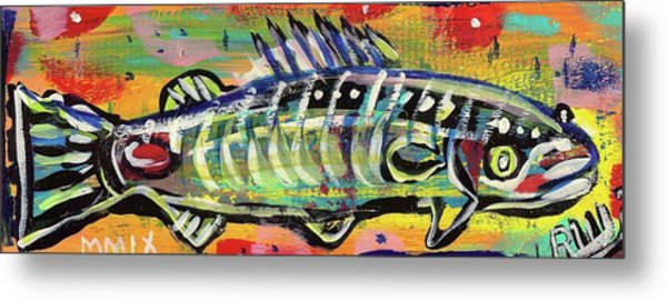 Lil' Funky Folk Fish Number Ten Metal Print