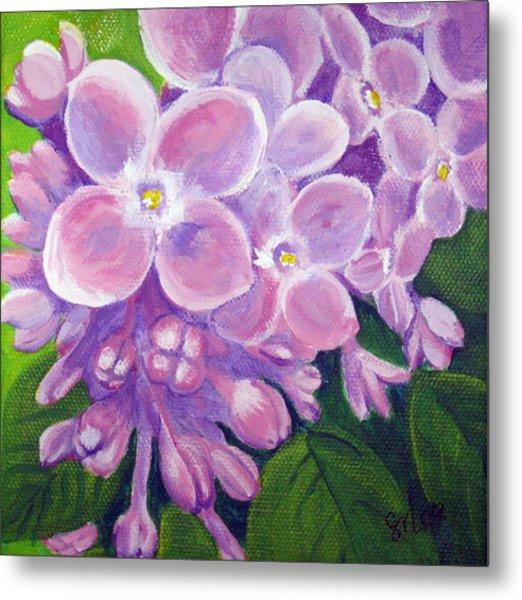 Lilacs Metal Print by Sharon Marcella Marston