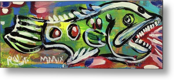 Lil'funky Folk Fish Number Thirteen Metal Print