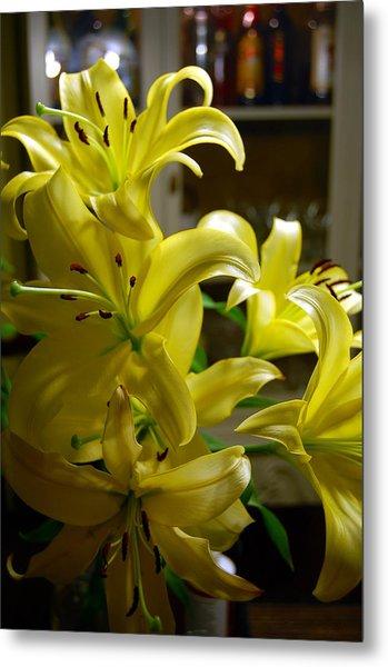 Lilies Metal Print by Siobhan Yost