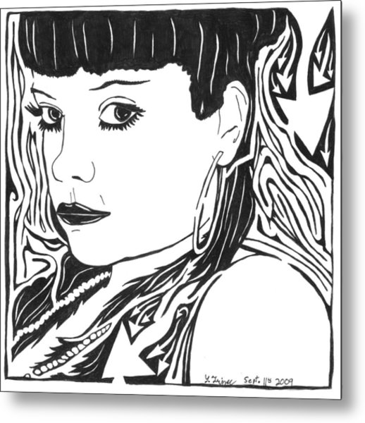 Lily Allen Maze Metal Print by Yonatan Frimer Maze Artist