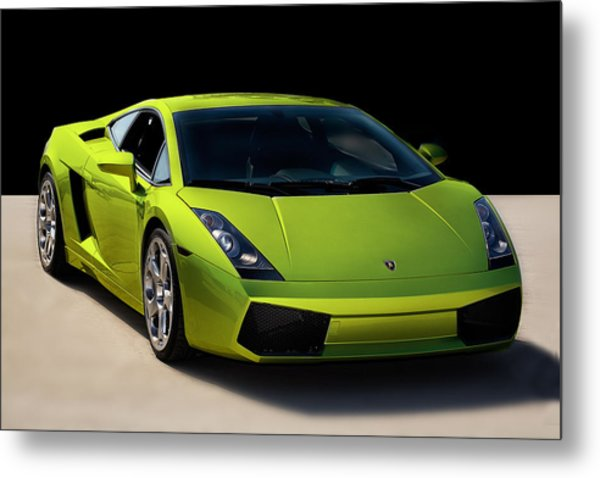 Lime-borghini Metal Print by Peter Tellone