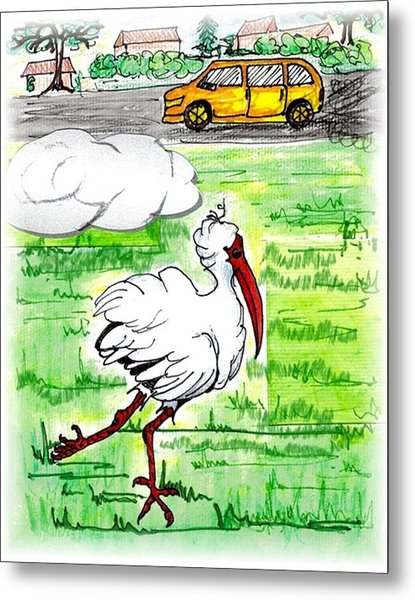 Limping Ibis Metal Print by Carol Allen Anfinsen