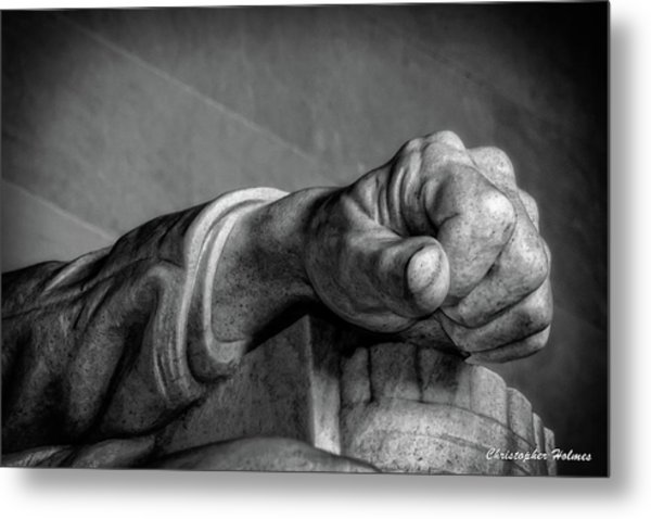 Lincoln's Left Hand B-w Metal Print