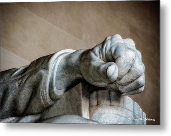 Lincoln's Left Hand Metal Print