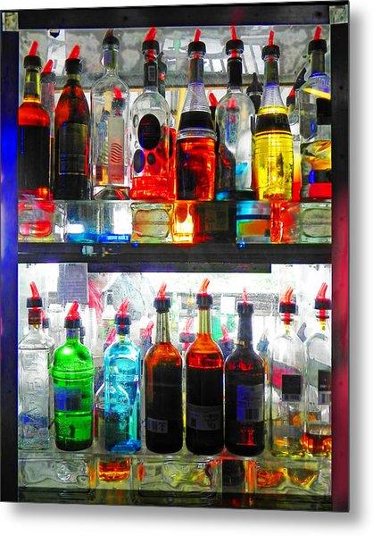 Liquor Cabinet Metal Print