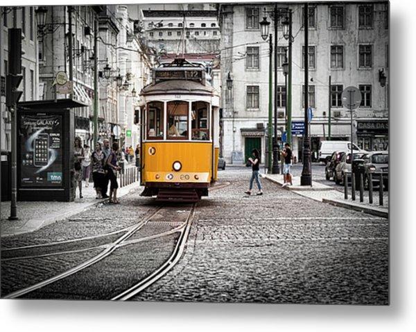 Lisboa Tram II Metal Print