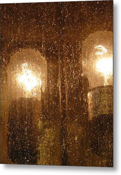 Lite Rain Metal Print by Florene Welebny