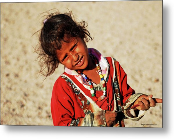 Little Bedouin Girl Metal Print by Chaza Abou El Khair