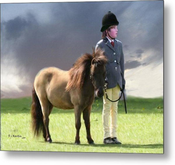 Little Horseman Metal Print