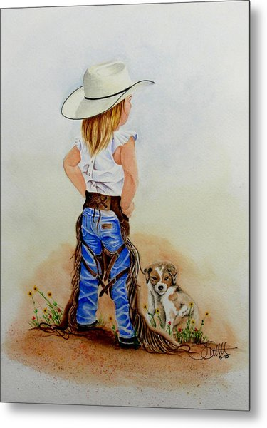 Little Miss Big Britches Metal Print