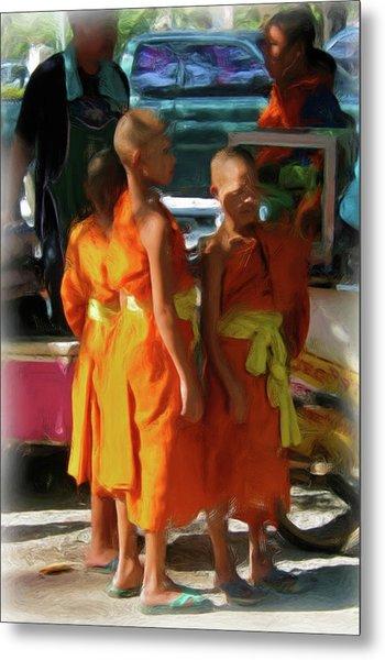 Little Novice Monks 1-cropped Metal Print
