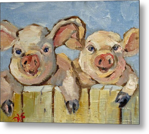 Little Pigs Metal Print by Delilah  Smith