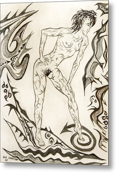 Live Nude 3 Female Metal Print