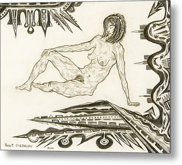 Live Nude 4 Female Metal Print