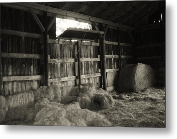 Livestock Barn In Kentucky Metal Print