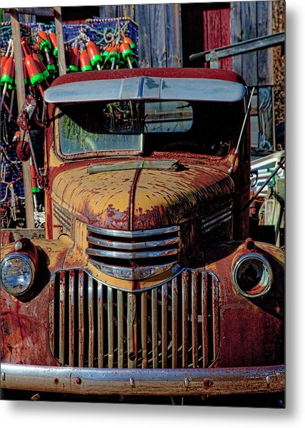 Lobster Pots And Chevys Metal Print