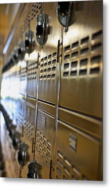 Lockers Metal Print