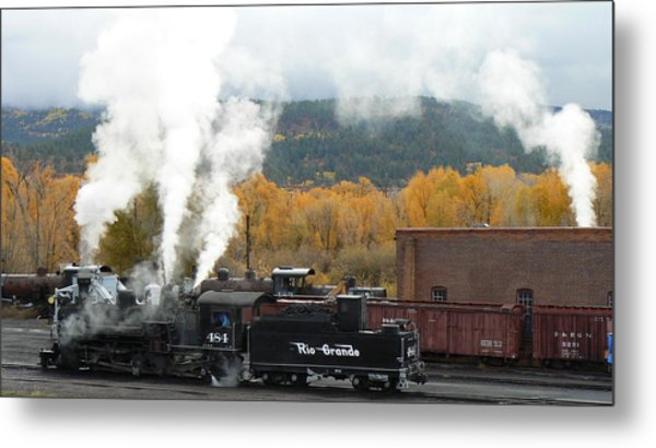 Locomotive At Chama Metal Print