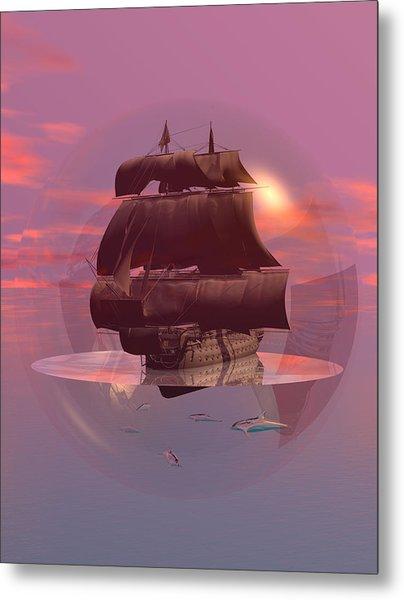 Log Wind Sse 5mph Seas Calm Metal Print by Claude McCoy