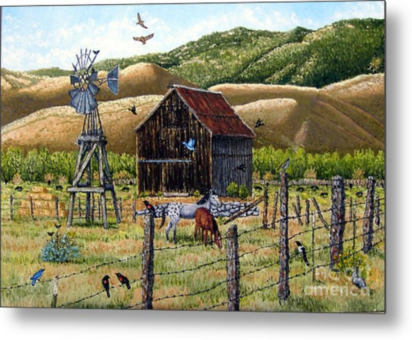 Lompa Valley Ranch Metal Print by Santiago Chavez