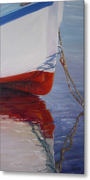 Lone Boat Metal Print