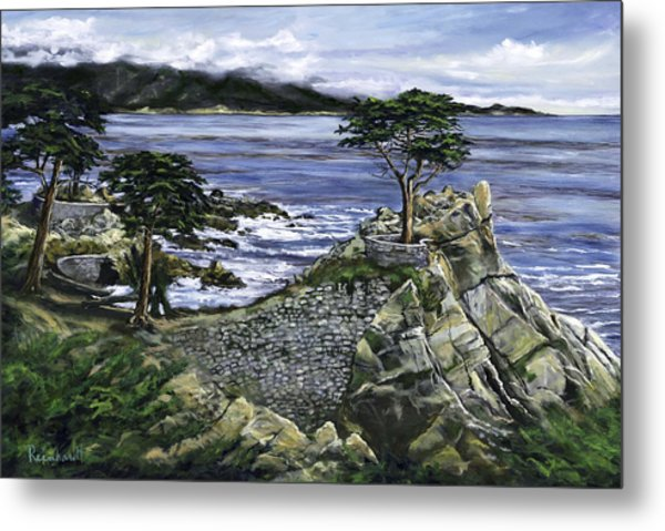 Lone Cypress Metal Print by Lisa Reinhardt