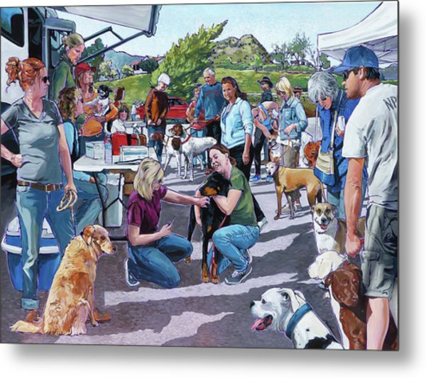 Lone Oak Vaccine Clinic Metal Print