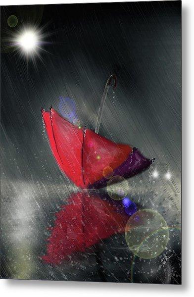 Lonely Umbrella Metal Print