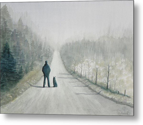 Long Road Home Metal Print by Ally Benbrook