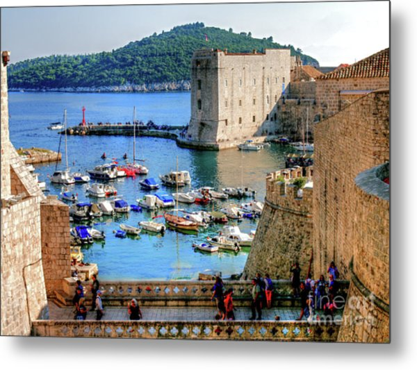 Looking Out Onto Dubrovnik Harbour Metal Print