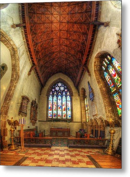 Loughborough Church - Altar Vertorama Metal Print