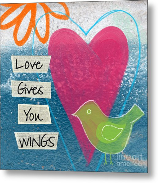 Love Gives You Wings Metal Print