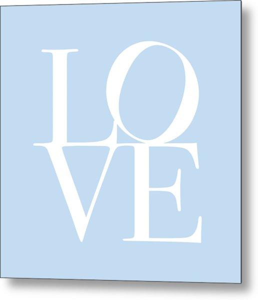 Love In Baby Blue Metal Print by Michael Tompsett