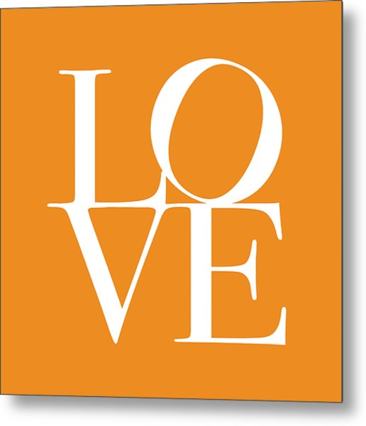 Love In Orange Metal Print