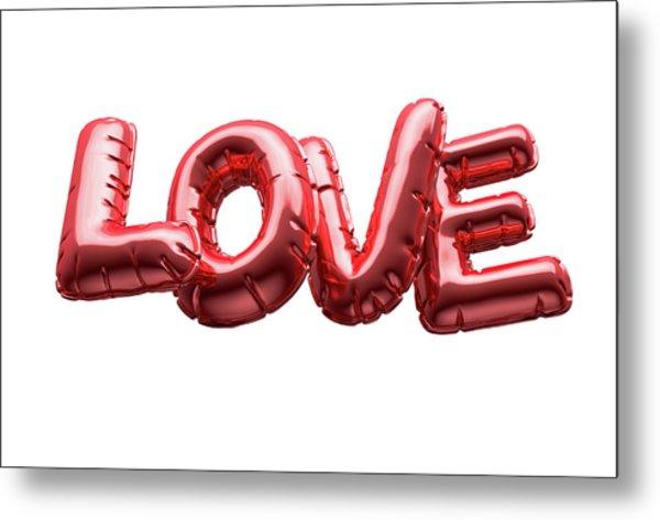 Love Inflatable Balloons Metal Print