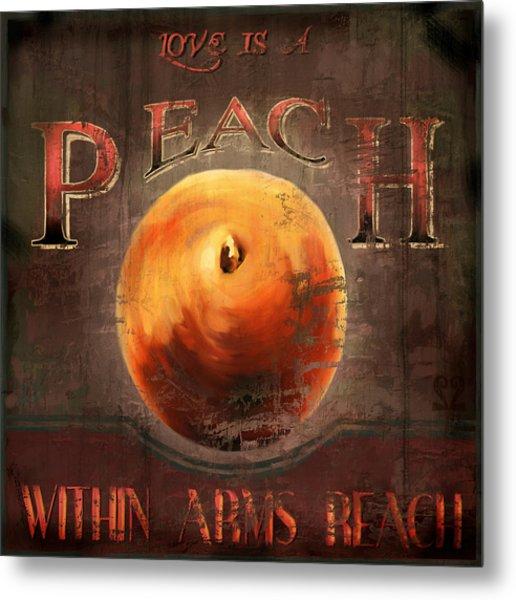 Love Is A Peach Metal Print