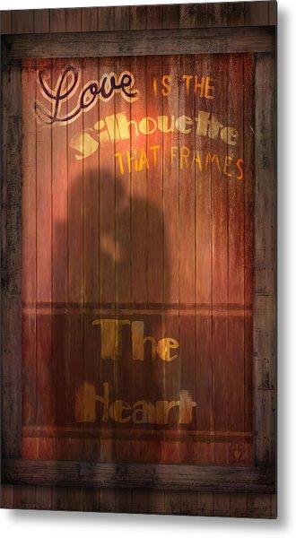 Love Is A Silhouette Metal Print