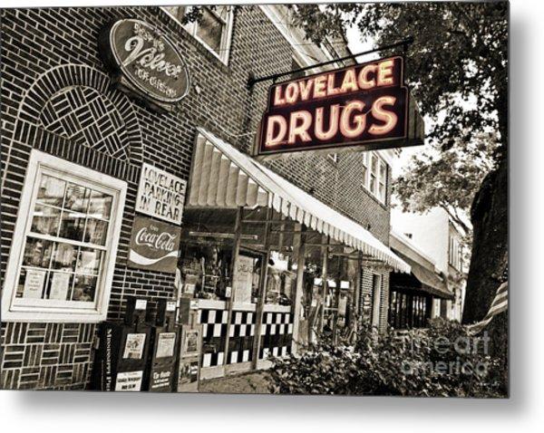 Lovelace Drugs Metal Print