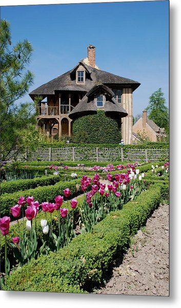 Lovely Garden And Cottage Metal Print