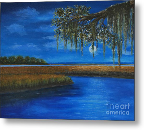 Lowcountry Moon Metal Print