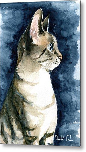 Lynx Point Cat Portrait Metal Print