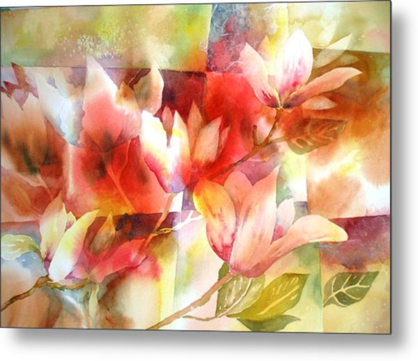 Magnolia Magic Metal Print