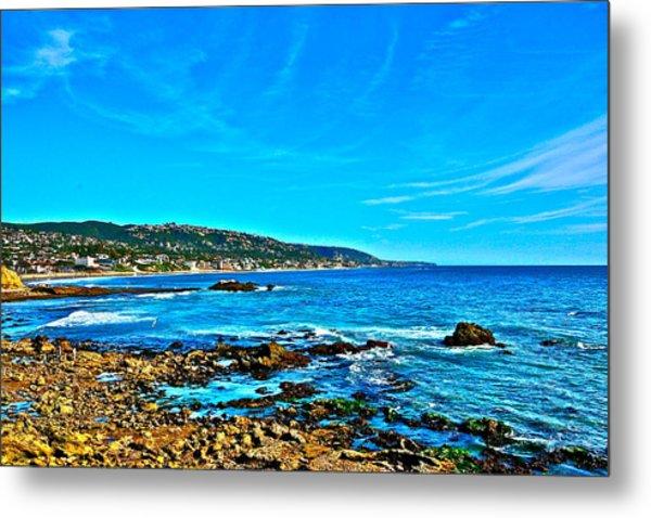 Main Beach Laguna Metal Print by Jeremy Stewart