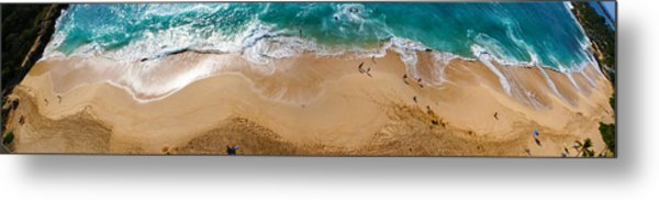 Makaha Beach Panorama Metal Print