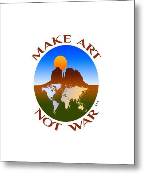 Make Art Not War Logo Metal Print