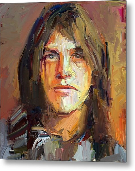 Malcolm Young Acdc Tribute Portrait Metal Print